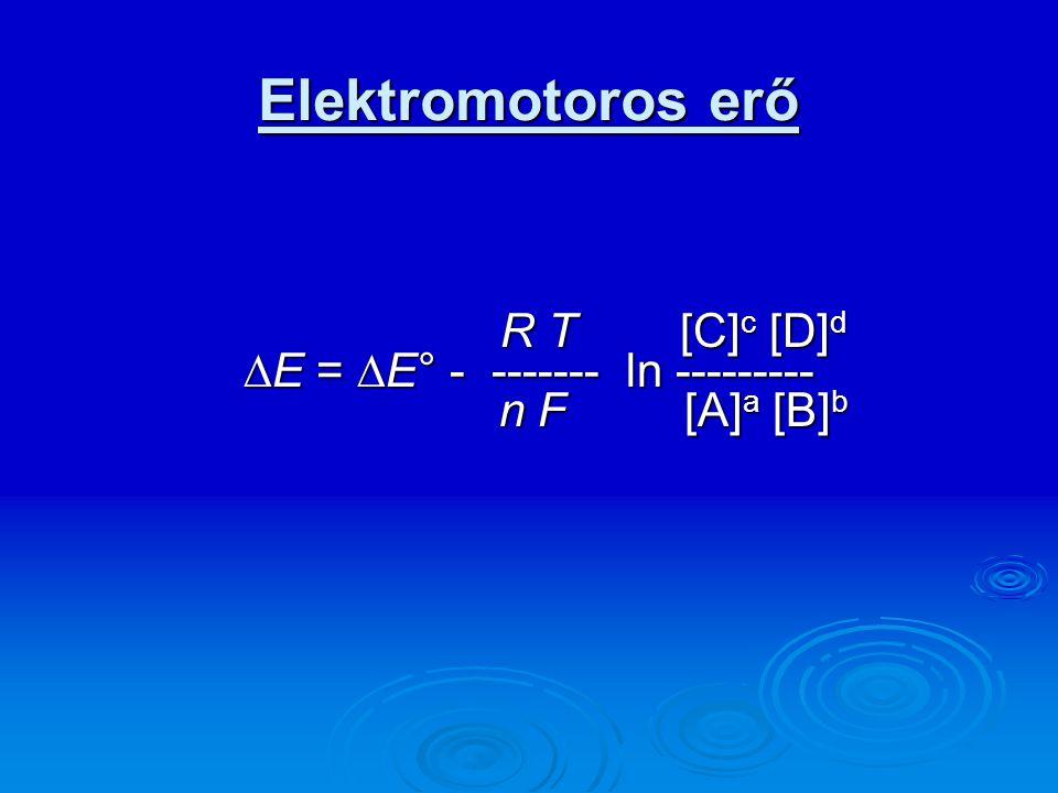 Biológiai rendszerekben  Energiaforrás a biológiai oxidáció, ami a környezetben redukciót eredményez.