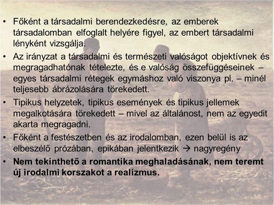 """A naturalista stílus jellemző műfajai Drámában társadalmi dráma (Henrik Ibsen, August Strindberg) szalondráma (Molnár Ferenc) népszínmű (a népi jelleg """"reklámozása , Csiky Gergely) Lírában a dal különböző formái az agitatív propagandavers Epikában regény kisregény elbeszélés novella"""
