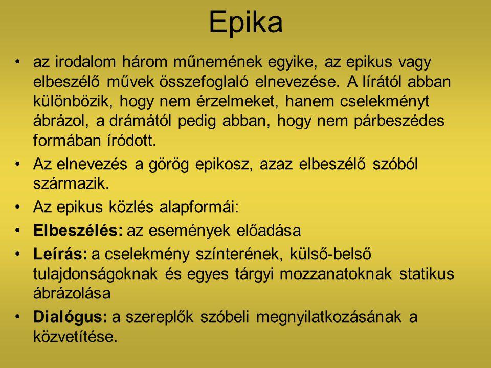 Epika az irodalom három műnemének egyike, az epikus vagy elbeszélő művek összefoglaló elnevezése. A lírától abban különbözik, hogy nem érzelmeket, han