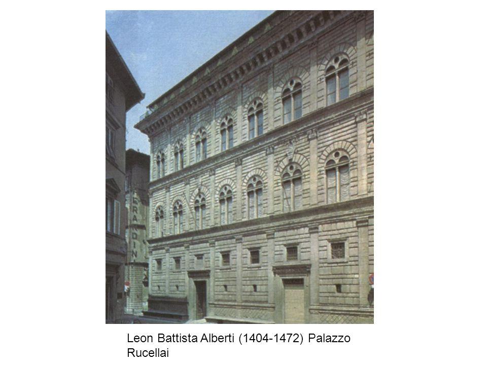 Leon Battista Alberti (1404-1472) Palazzo Rucellai