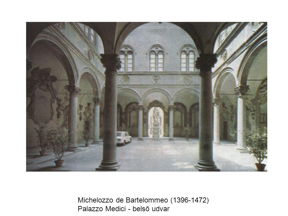 Michelozzo de Bartelommeo (1396-1472) Palazzo Medici - belső udvar