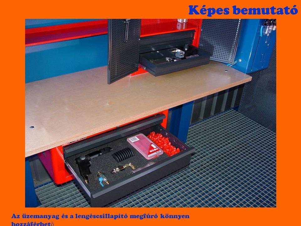 Képes bemutató A szárazrafektetéshez szükséges szerszámokat tartalmazza a H10 konténer