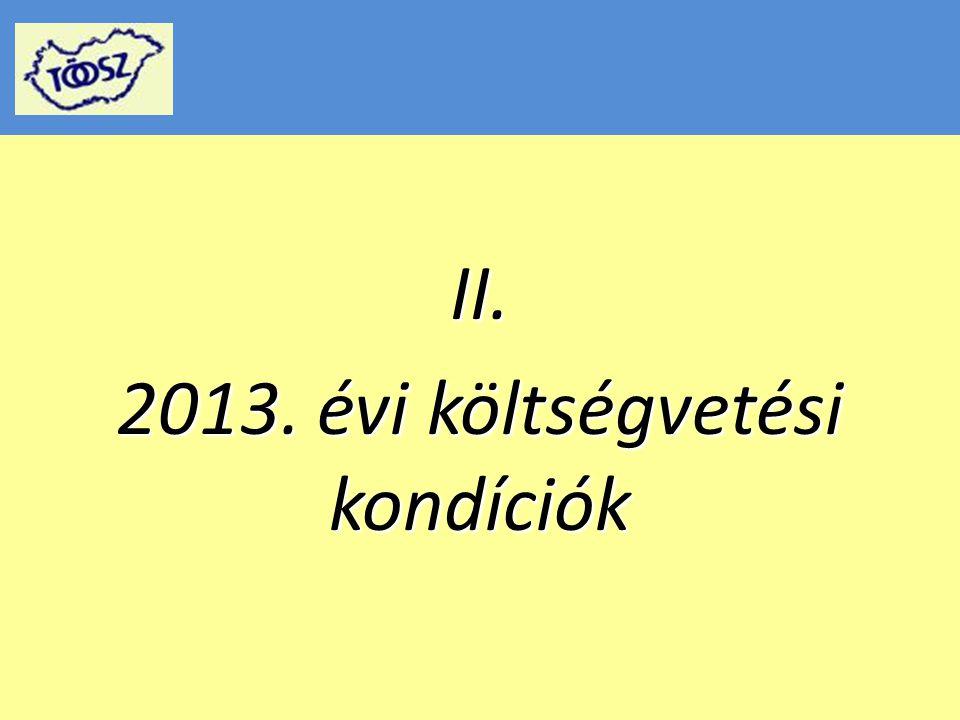 2013.évi költségvetésről 2013.