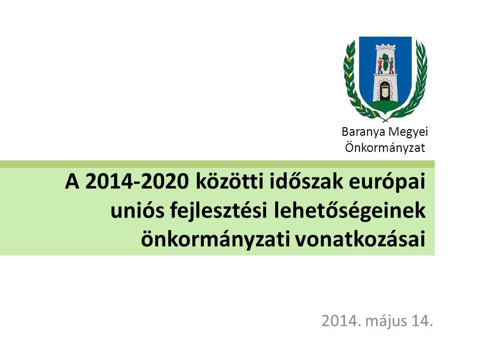 Bevezetés Magyarország területfejlesztési rendszere igazodik az EU-s tervezési rendszerhez - 7 éves periódusokra történik a tervezés.