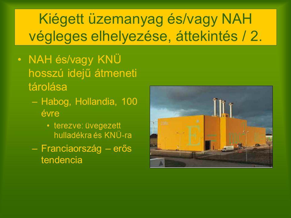 Kiégett üzemanyag és/vagy NAH végleges elhelyezése, áttekintés / 2. NAH és/vagy KNÜ hosszú idejű átmeneti tárolása –Habog, Hollandia, 100 évre terezve