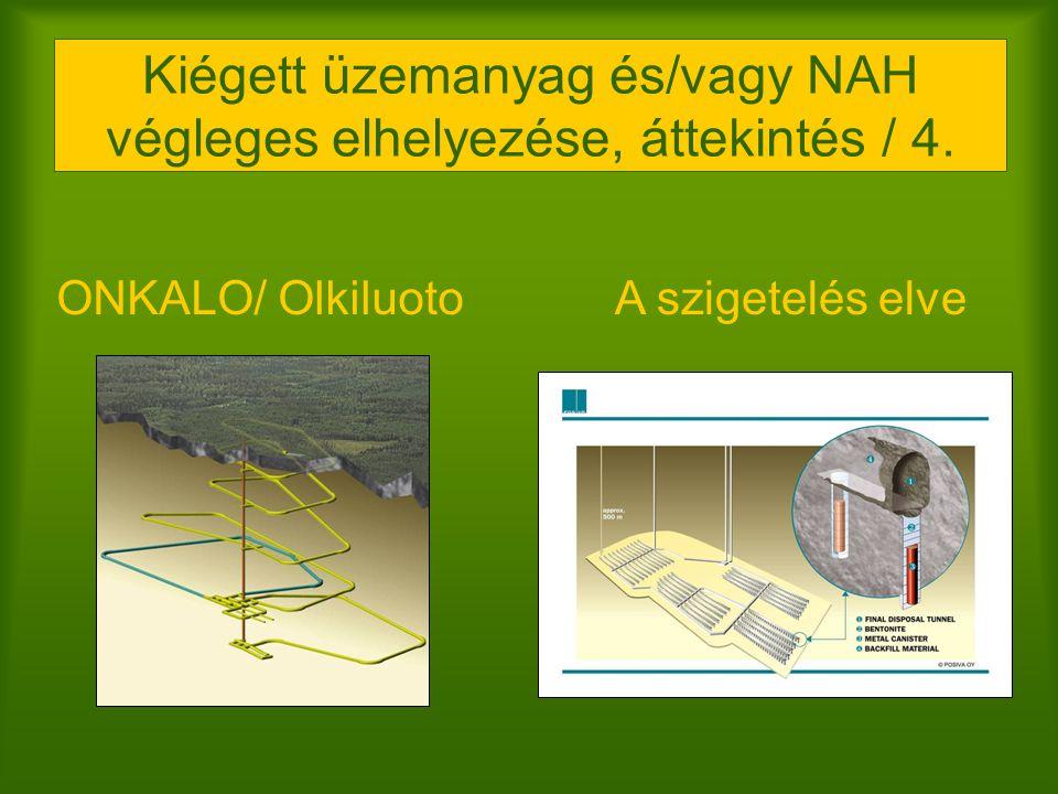 ONKALO/ Olkiluoto Kiégett üzemanyag és/vagy NAH végleges elhelyezése, áttekintés / 4. A szigetelés elve