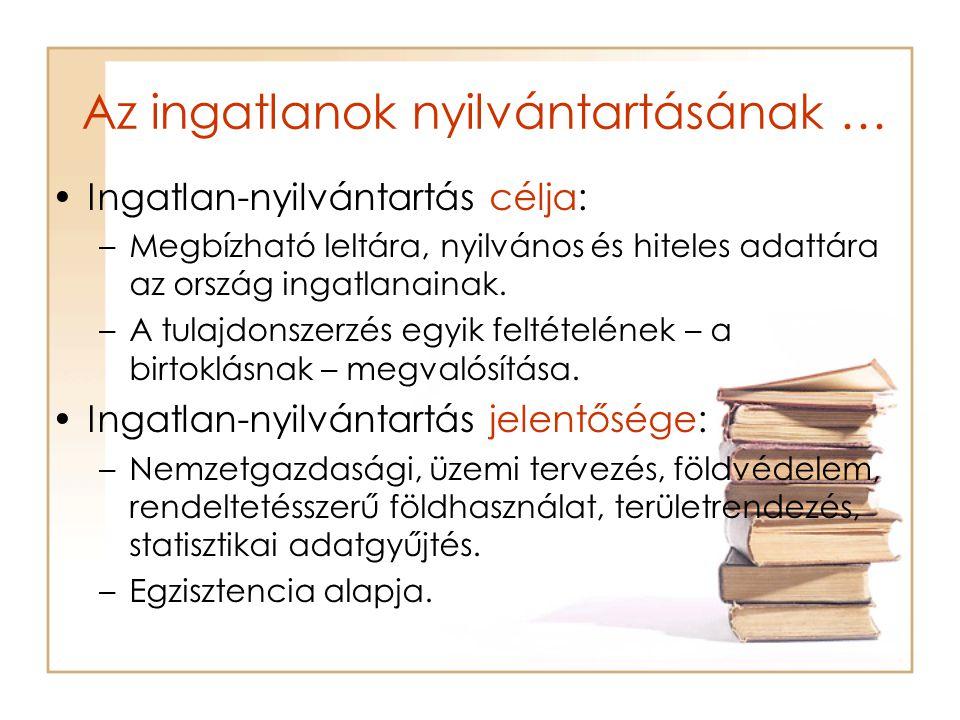 Az ingatlan-nyilvántartás részei –A tulajdoni lap II.