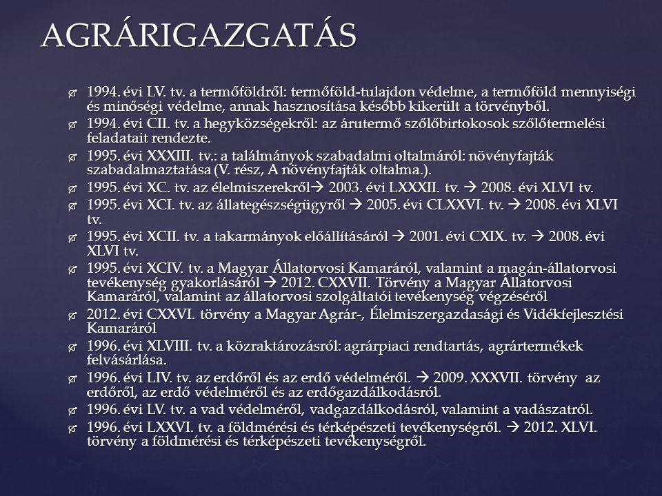  1996.évi CXXXI. tv.