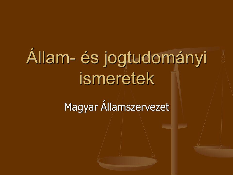 Állam- és jogtudományi ismeretek Magyar Államszervezet