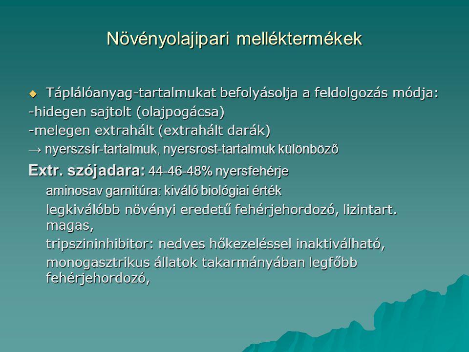 Növényolajipari melléktermékek  Extr.