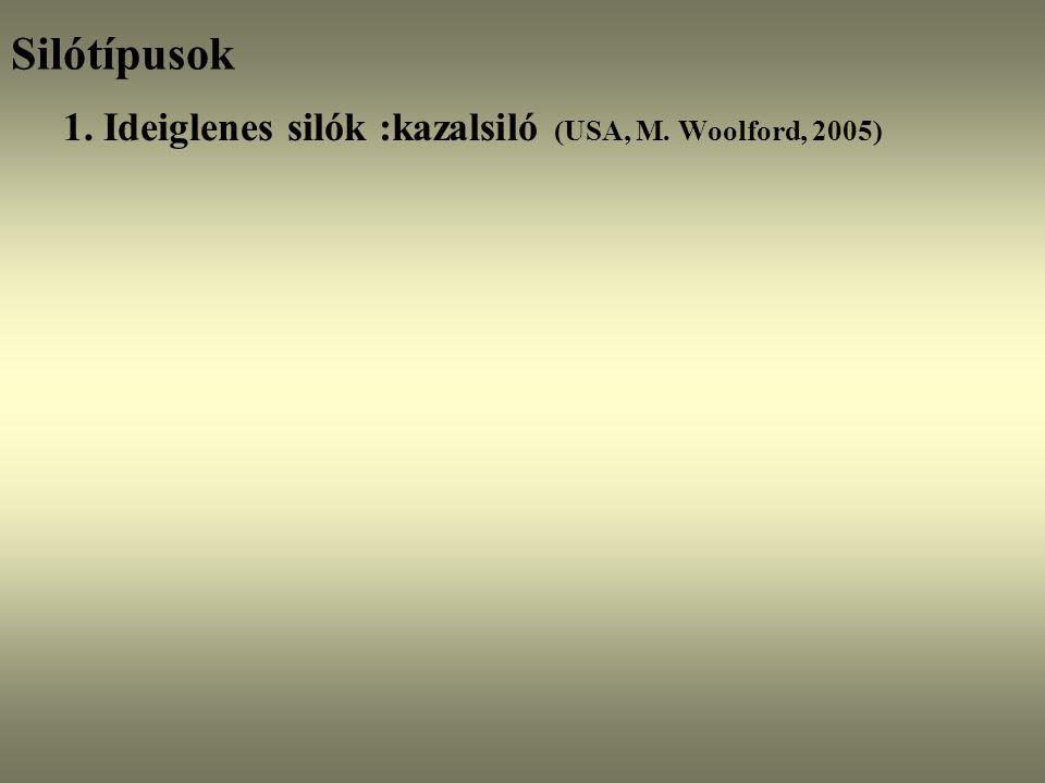 Silótípusok 1. Ideiglenes silók :kazalsiló (USA, M. Woolford, 2005)
