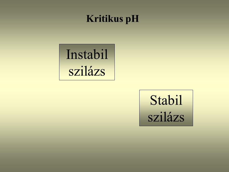 Kritikus pH Instabil szilázs Stabil szilázs