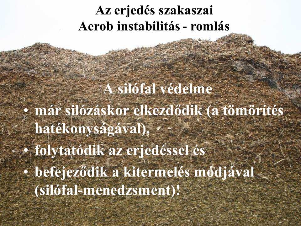 A silófal védelme már silózáskor elkezdődik (a tömörítés hatékonyságával), folytatódik az erjedéssel és befejeződik a kitermelés módjával (silófal-men