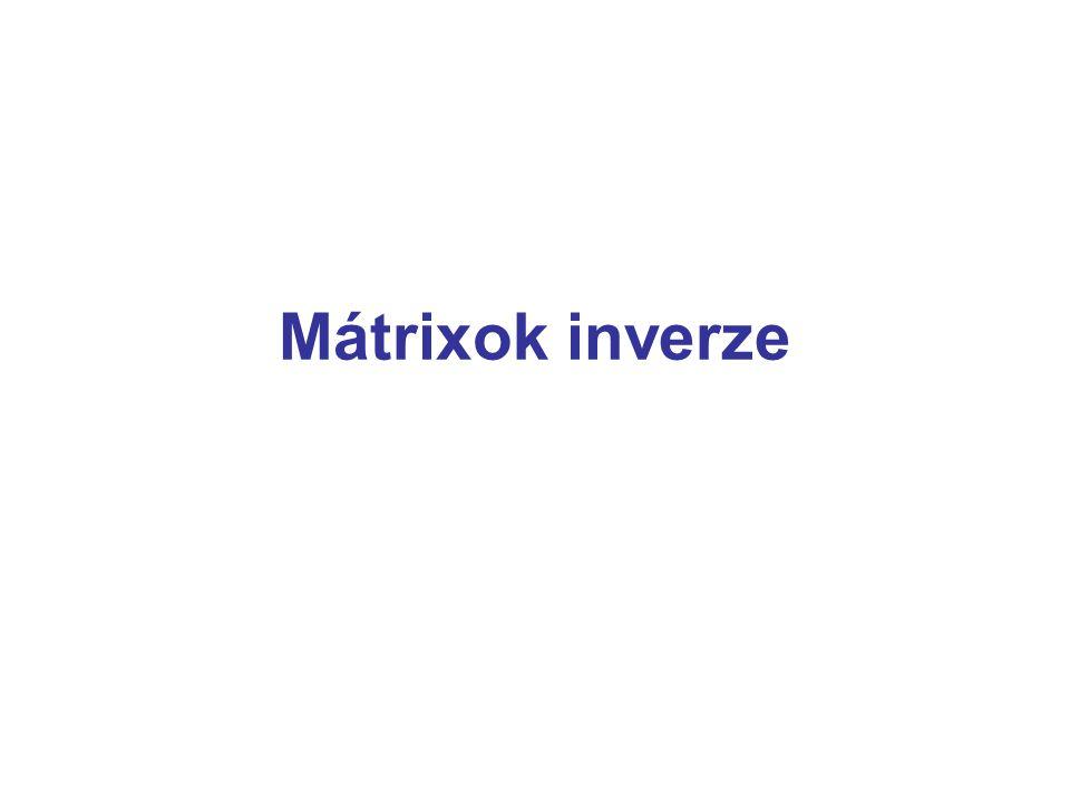 Mátrixok inverze