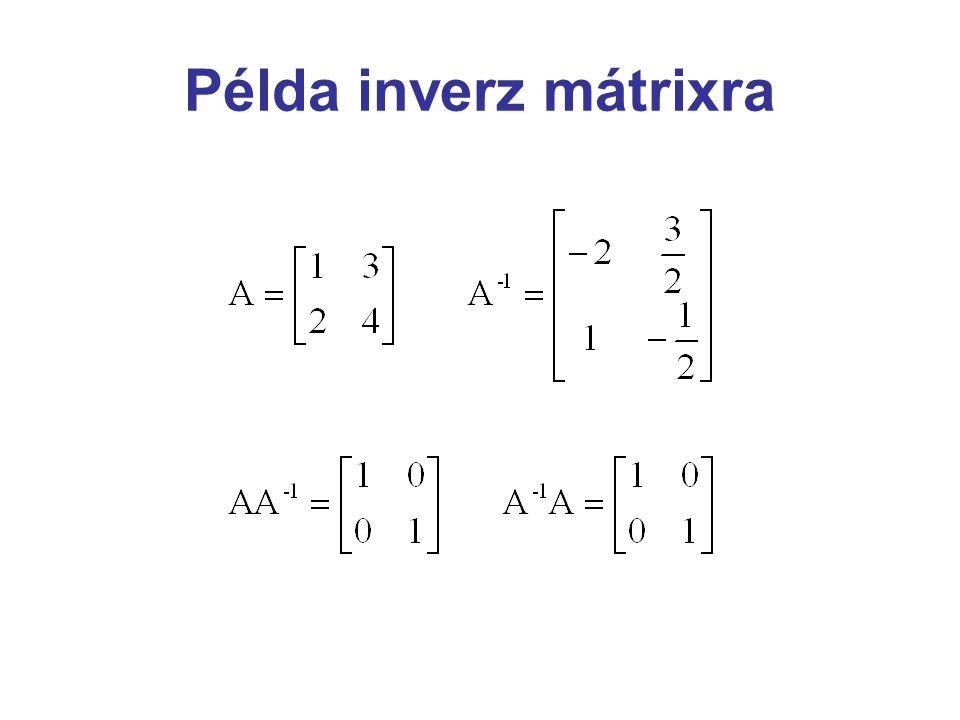 Példa inverz mátrixra