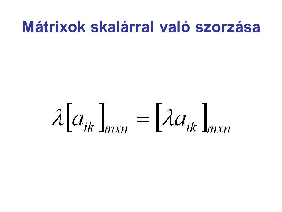 Mátrixok és a lineáris egyenletrendszerek kapcsolata