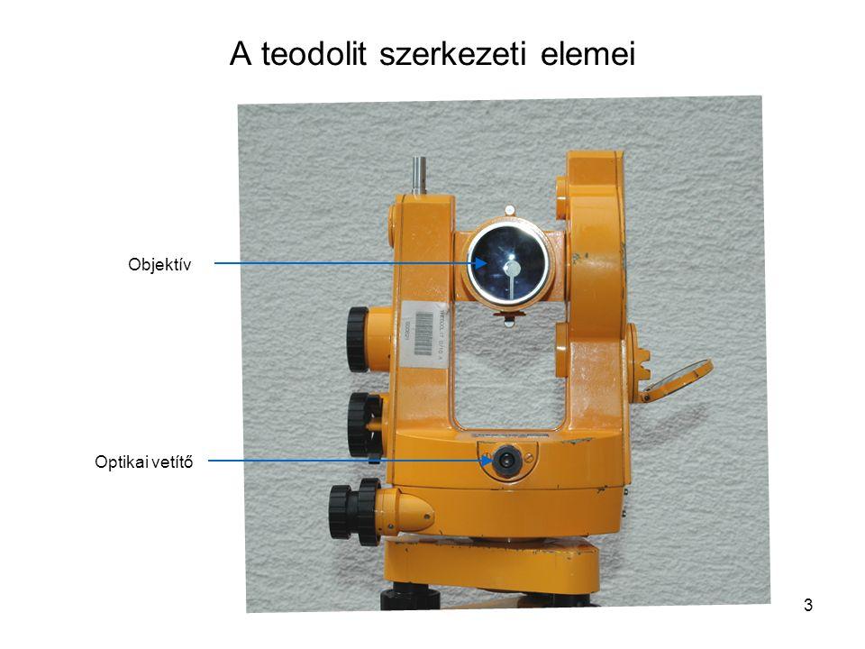 3 A teodolit szerkezeti elemei Objektív Optikai vetítő