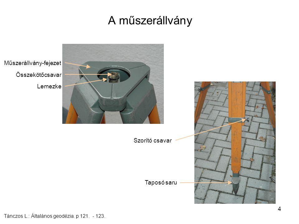 5 A teodolit szerkezeti elemei – geodéziai távcső diafragma gyűrű Csepregi Sz.