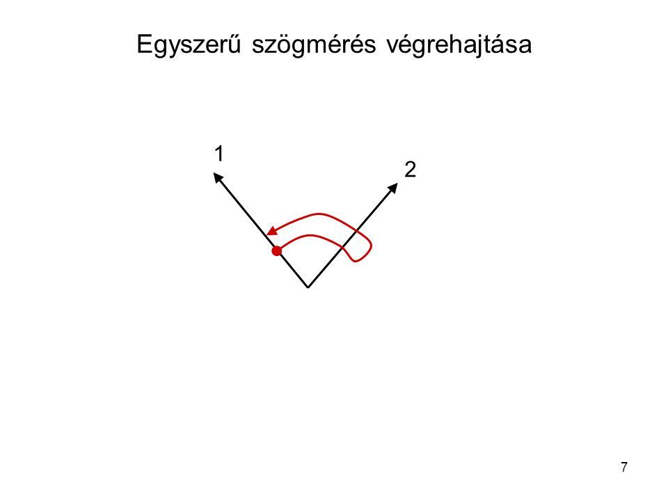 7 Egyszerű szögmérés végrehajtása 1 2