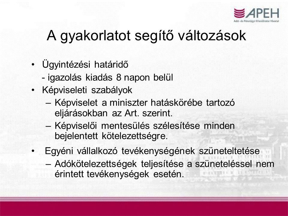 Adóhatósági igazolás kiállítása Együttes adóigazolás - Nem két kérelem, tartalmazza az adó-és vámhatóságnál nyilvántartott tartozásokat, illetve azok hiányát