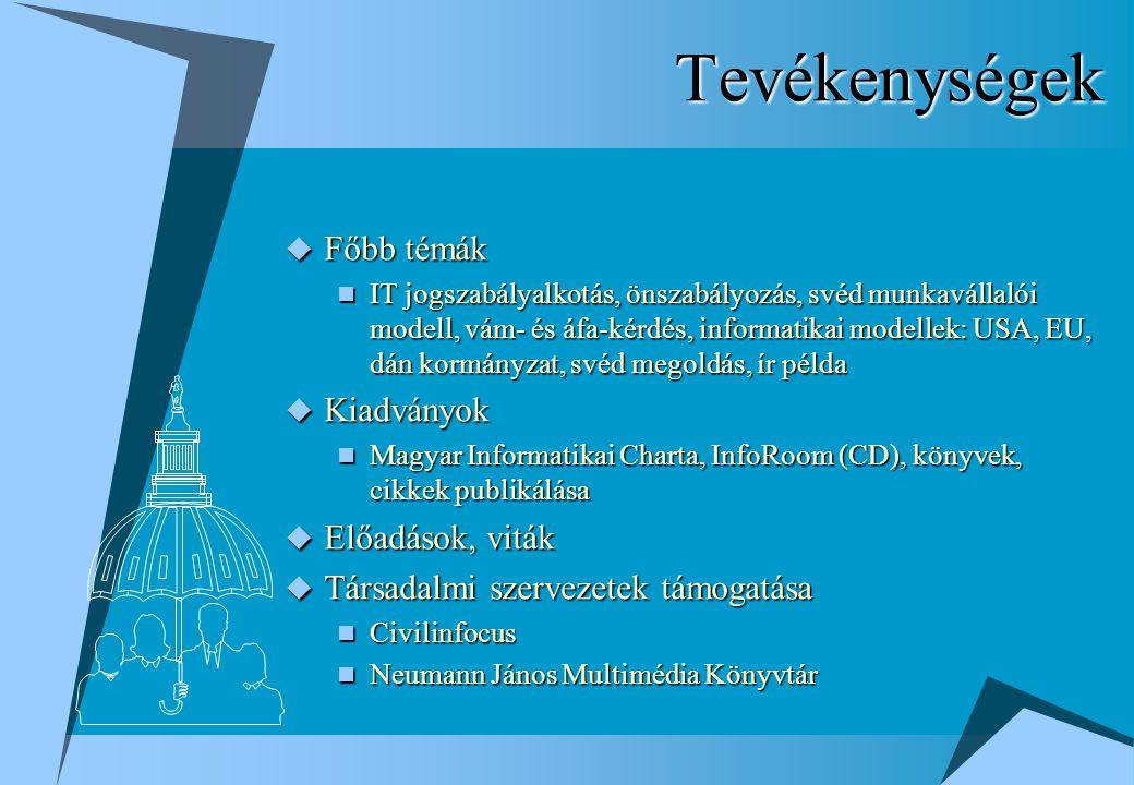Magyar Informatikai Charta  Az informatikai szakma elvárásainak és javaslatainak összefoglalása (2000.