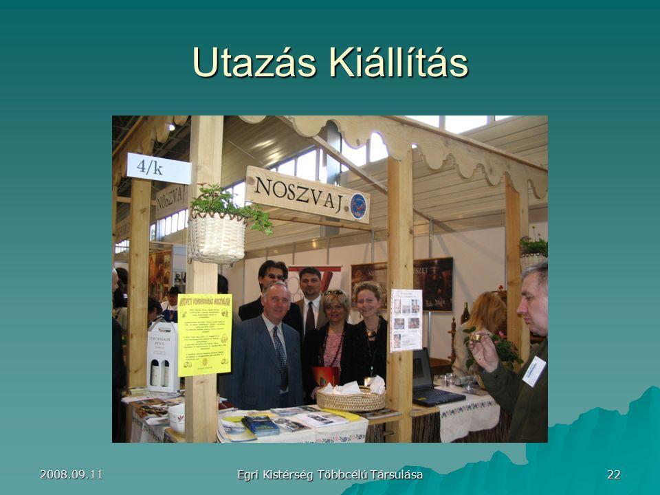 Utazás Kiállítás 22 Egri Kistérség Többcélú Társulása 2008.09.11