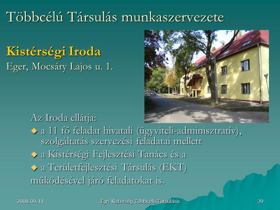 Többcélú Társulás munkaszervezete Kistérségi Iroda Eger, Mocsáry Lajos u.