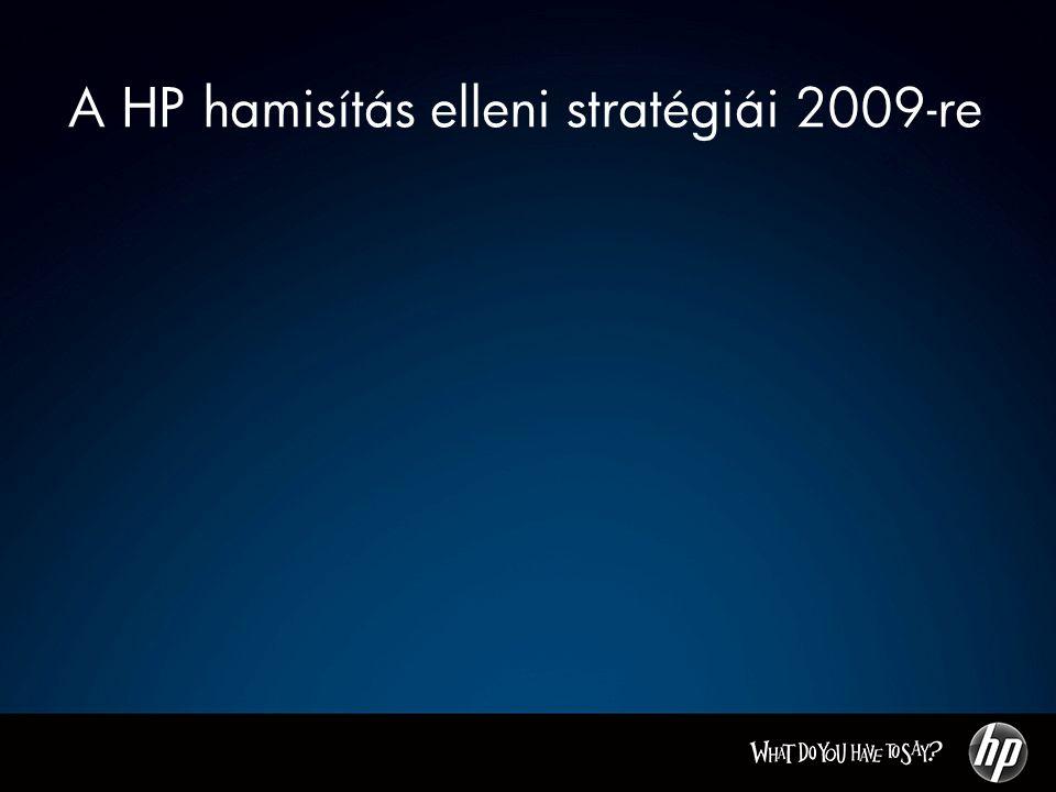 A HP hamisítás elleni stratégiái 2009-re