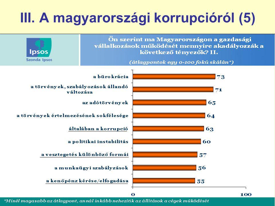 III. A magyarországi korrupcióról (5)