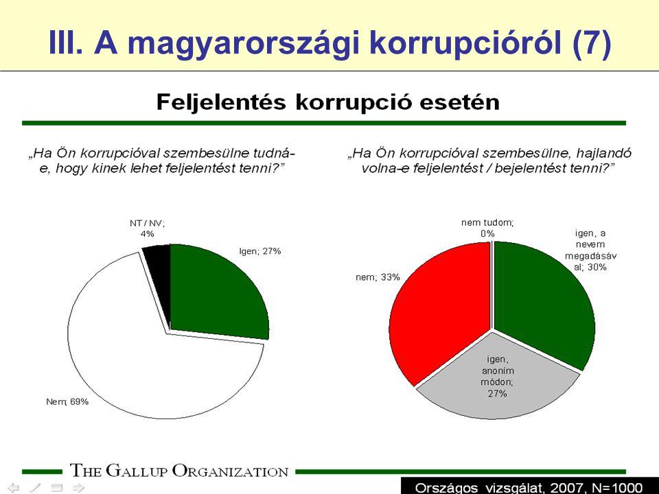 III. A magyarországi korrupcióról (7)