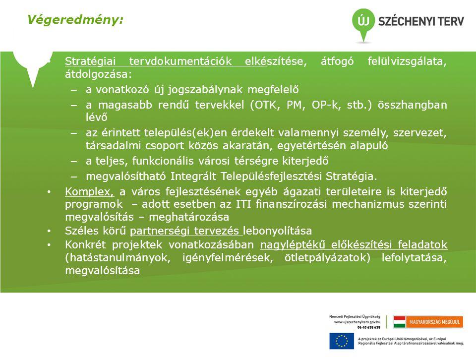 Stratégiai tervdokumentációk elkészítése, átfogó felülvizsgálata, átdolgozása: – a vonatkozó új jogszabálynak megfelelő – a magasabb rendű tervekkel (