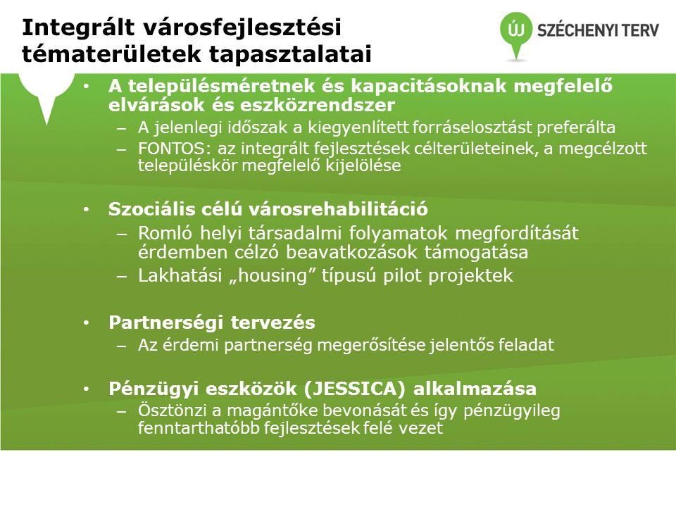 Tervezés 2014-2020 Fenntartható városfejlesztési programok előkészítése – tervezés az MJV-k és a főváros számára 2014-2020  Európa 2020 stratégia - intelligens, fenntartható és befogadó Európa - 2014-2020-as kohéziós politika kiemelt célja e stratégia teljesítése - A hazai támogatáspolitika is ennek megfelelően alakul - Olyan dokumentumokra van szükség, amelyekben ez az illeszkedés kimutatható -> Integrált Településfejlesztési Stratégia Az IVS-ek egyébként is időszerű felülvizsgálata a fentiekkel összhangban