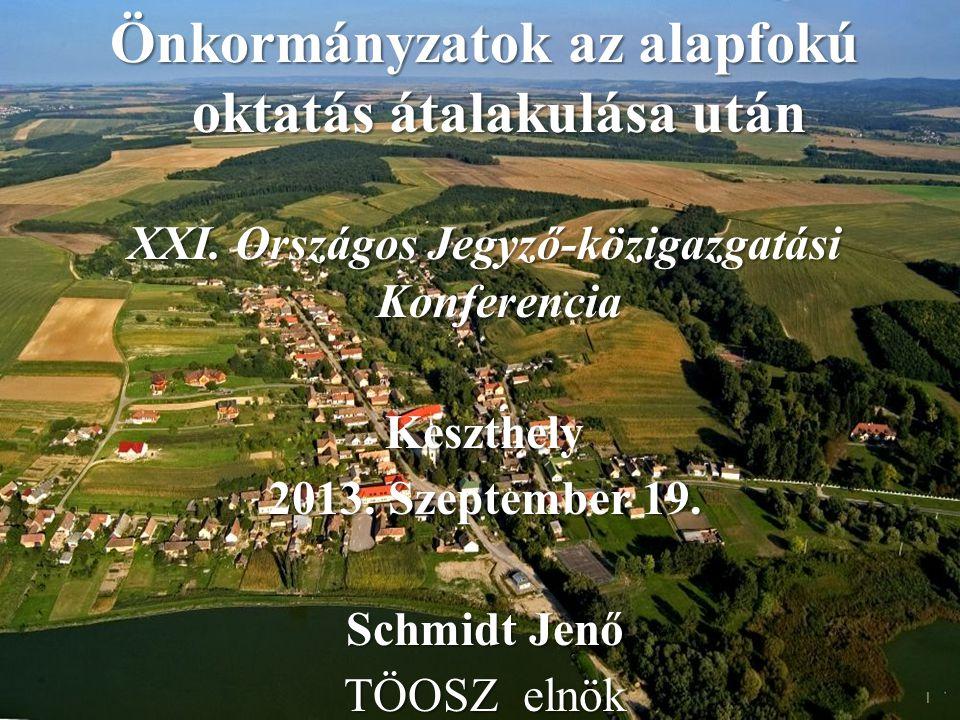 Önkormányzatok az alapfokú oktatás átalakulása után XXI.