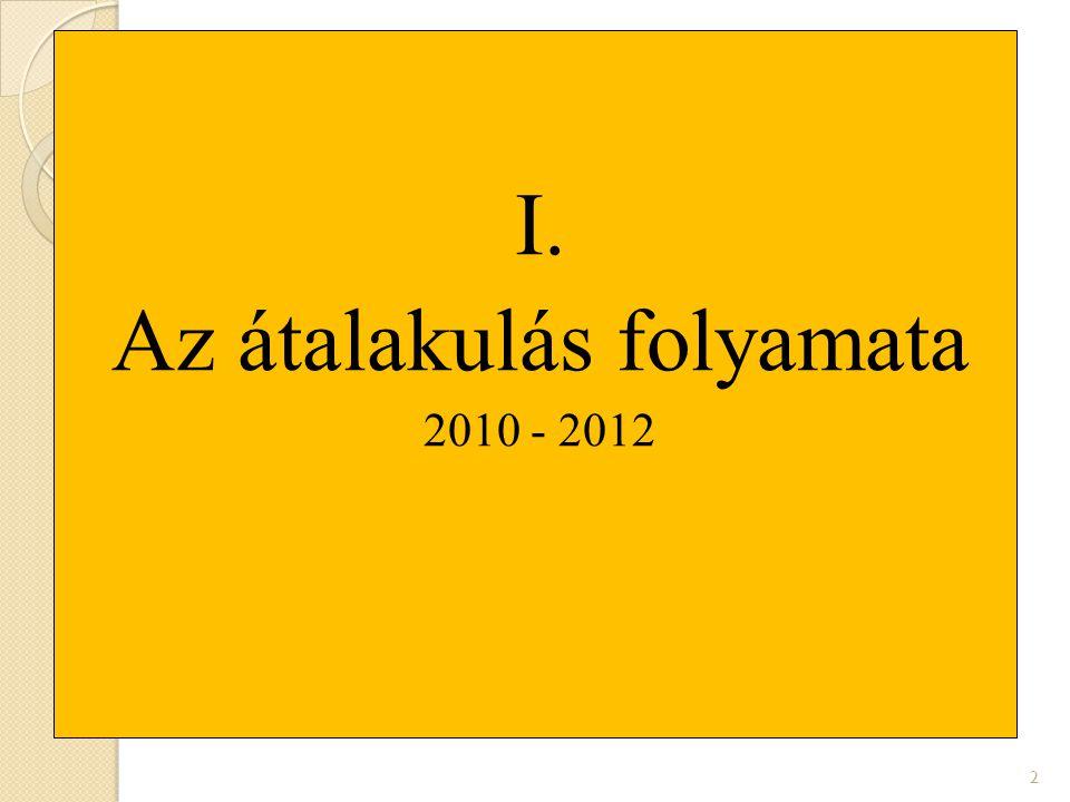 I. Az átalakulás folyamata 2010 - 2012 2