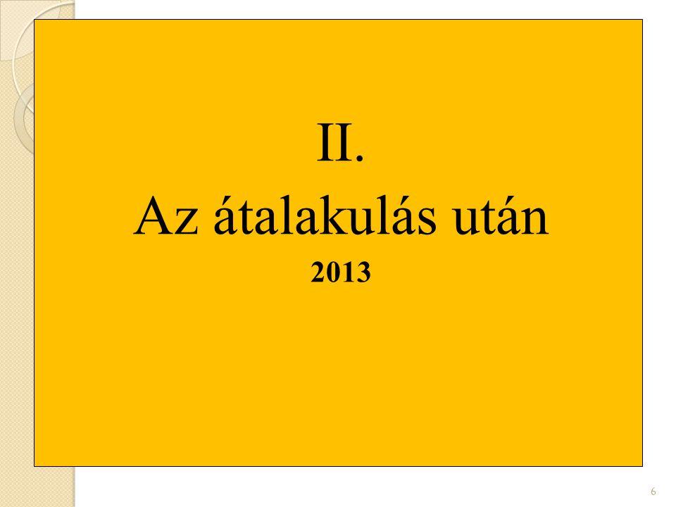 II. Az átalakulás után 2013 6