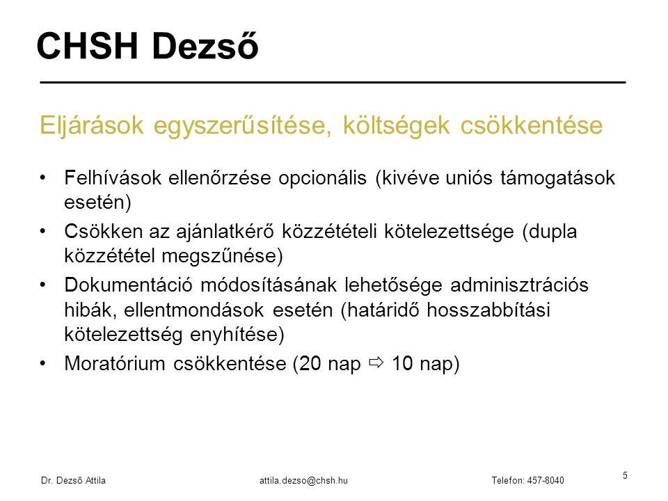 CHSH Dezső Dr.