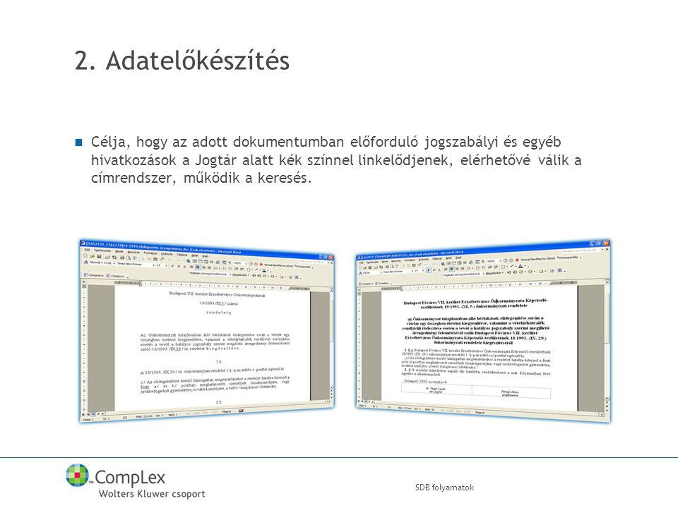 SDB folyamatok 2.