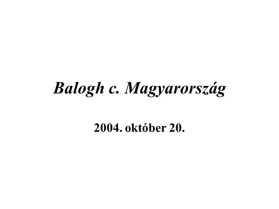 Balogh c. Magyarország 2004. október 20.