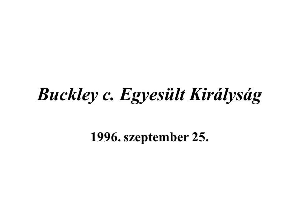 Buckley c. Egyesült Királyság 1996. szeptember 25.