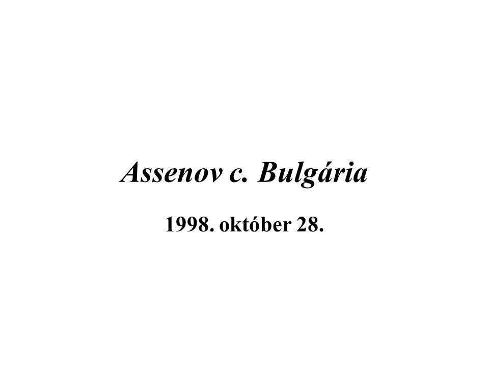 Assenov c. Bulgária 1998. október 28.