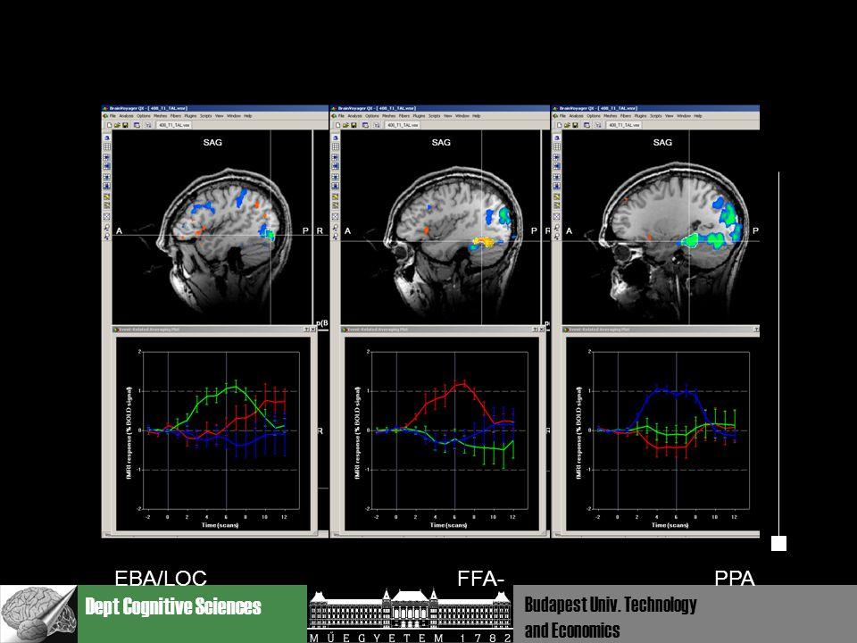 Dept Cognitive Sciences Budapest Univ. Technology and Economics EBA/LOC FFA-PPA