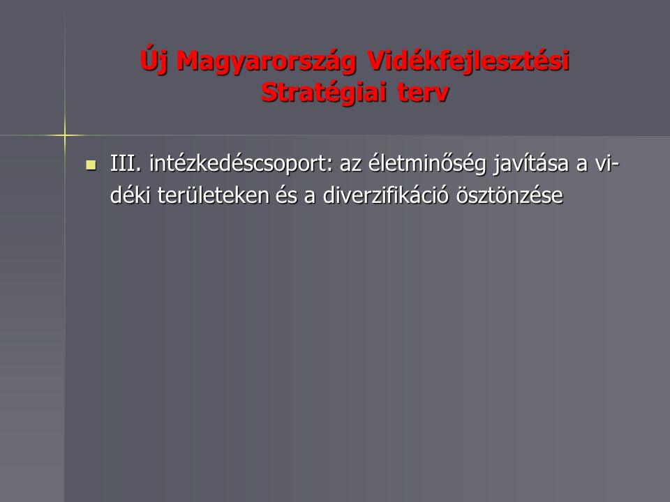 Új Magyarország Vidékfejlesztési Stratégiai terv III.