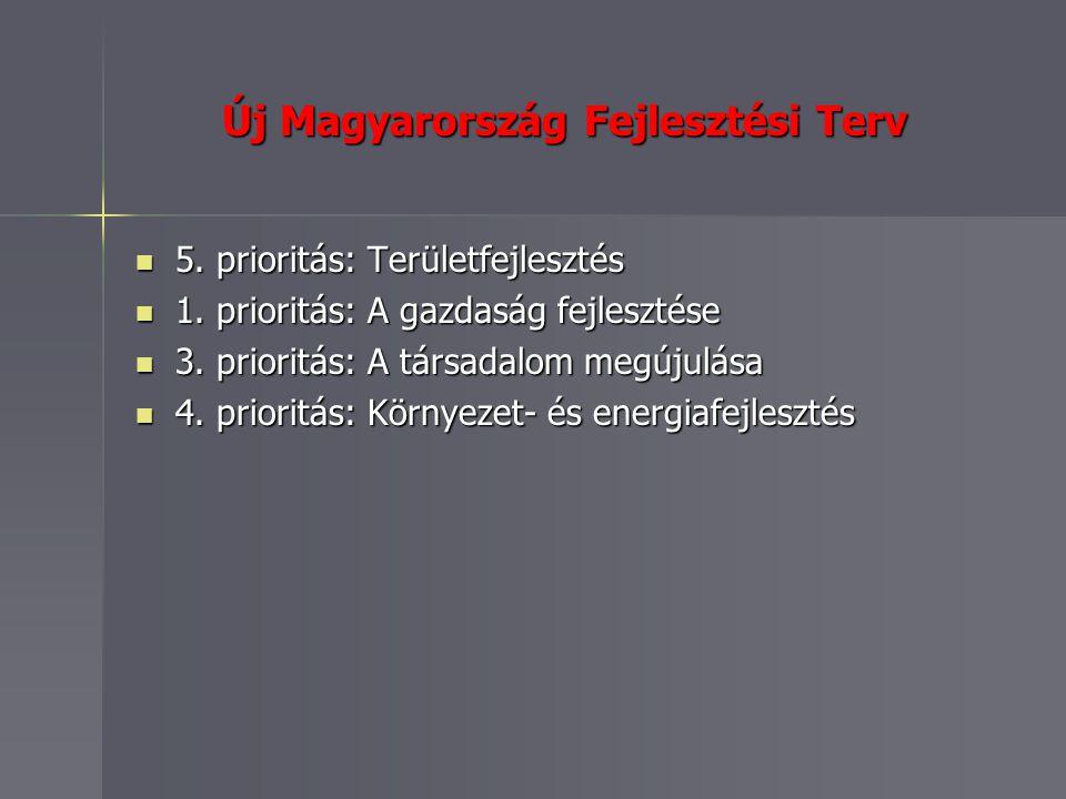 Új Magyarország Fejlesztési Terv 5. prioritás: Területfejlesztés 5.