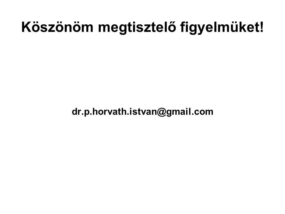 Köszönöm megtisztelő figyelmüket! dr.p.horvath.istvan@gmail.com