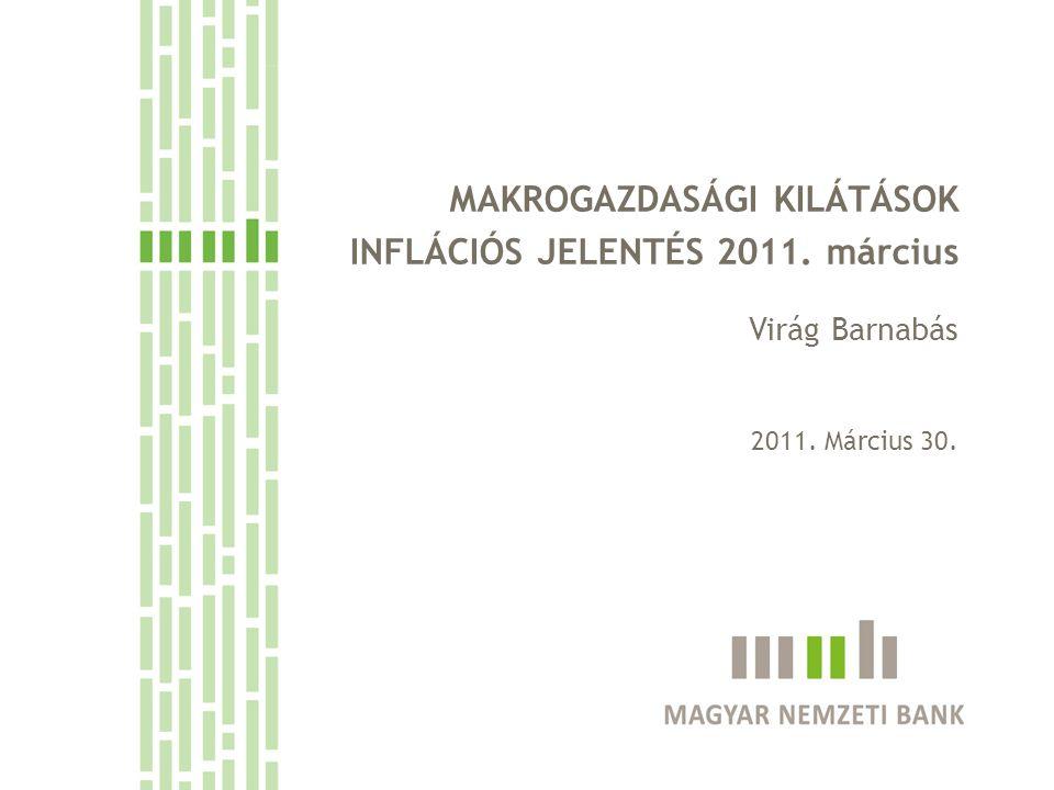 MAKROGAZDASÁGI KILÁTÁSOK INFLÁCIÓS JELENTÉS 2011. március Virág Barnabás 2011. Március 30.