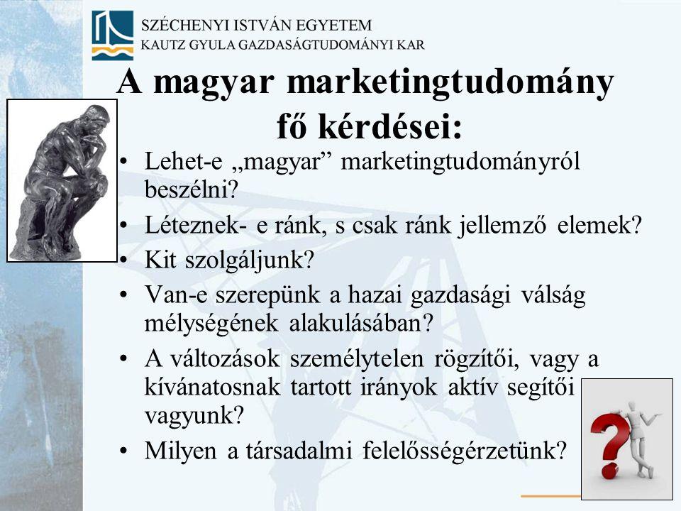"""23 A magyar marketingtudomány fő kérdései: Lehet-e """"magyar marketingtudományról beszélni."""