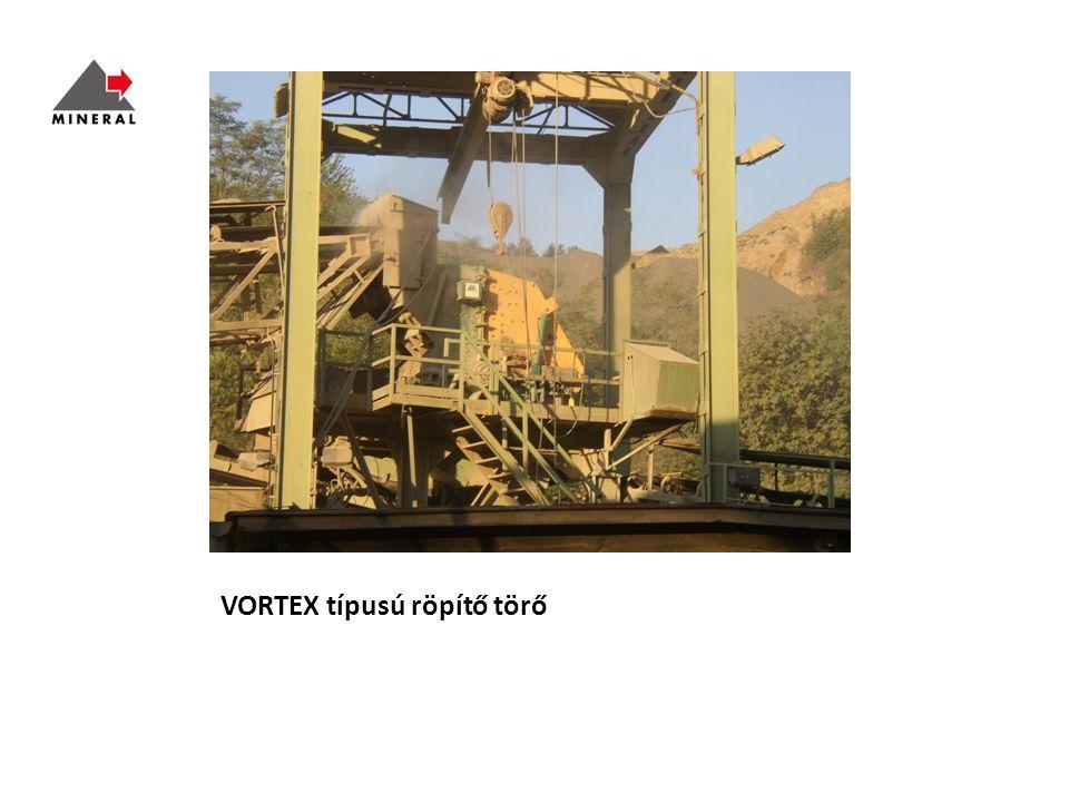 VORTEX típusú röpítő törő