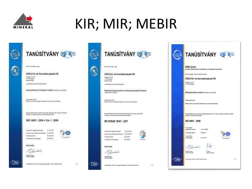 KIR; MIR; MEBIR