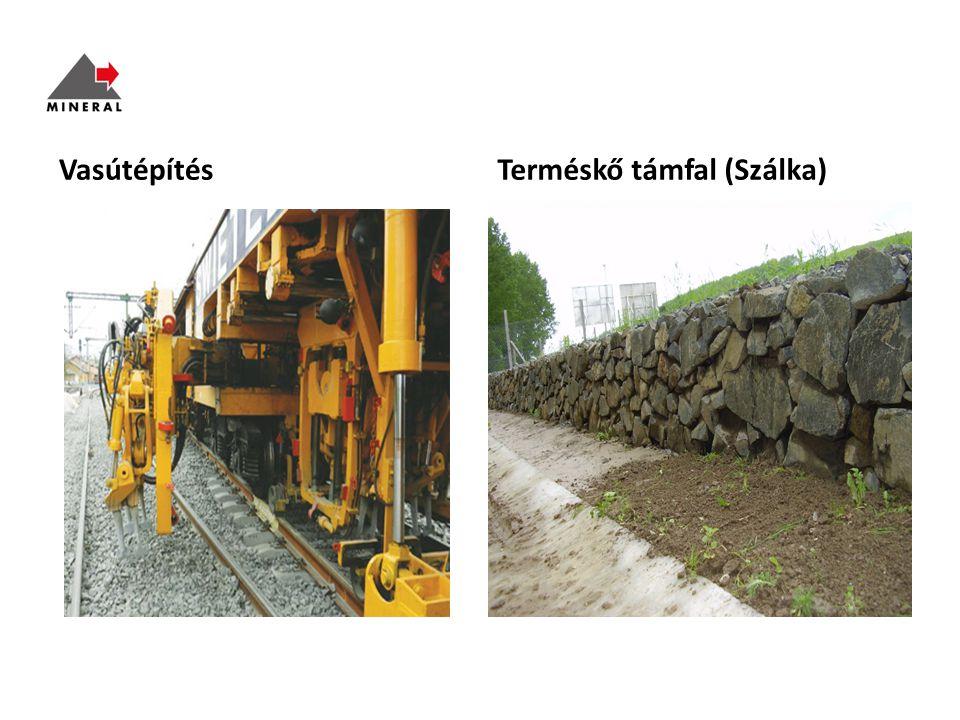 VasútépítésTerméskő támfal (Szálka)