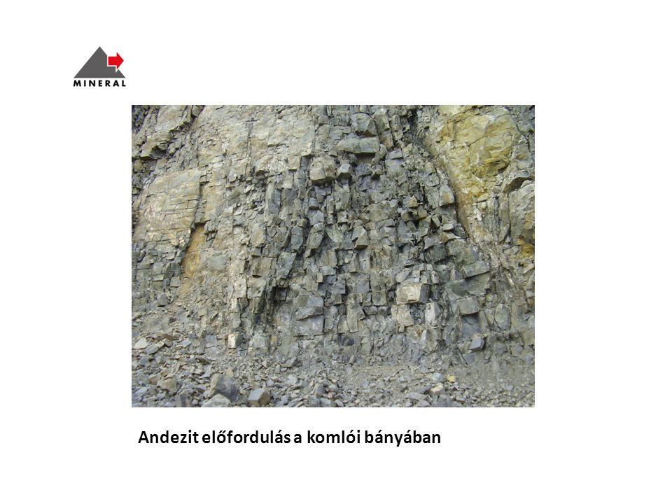Andezit előfordulás a komlói bányában